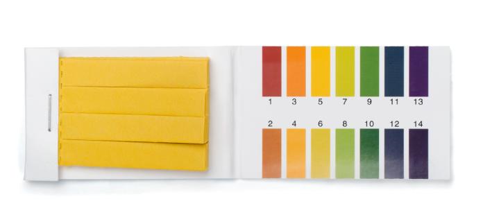 Measure pH levels in soil
