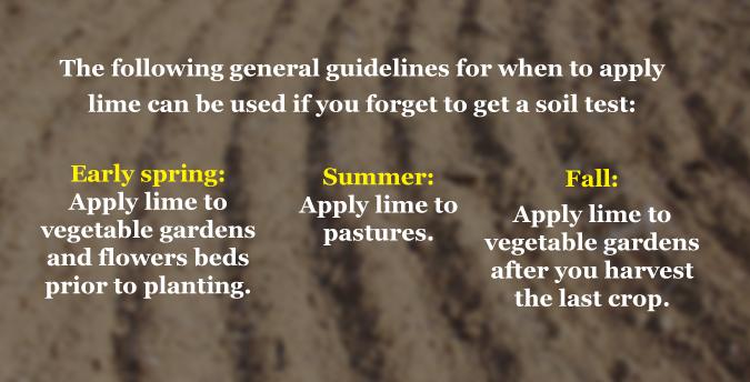 adding lime to gardens