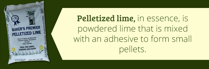 what is pelletized lime