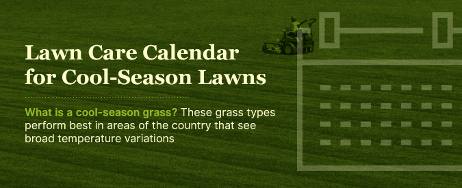 Lawn Care Calendar For Cool Season Lawns Gr