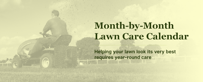 month-by-month cool grass lawn care calendar for the northeast