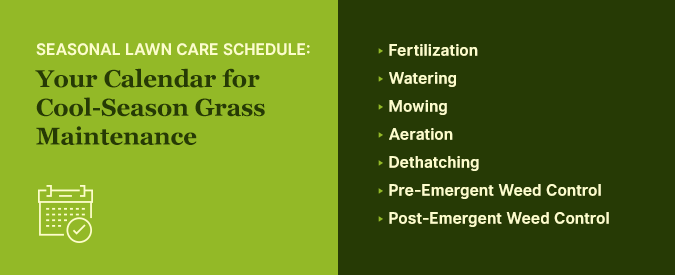 spring lawn care schedule northeast, pa, virginia, maryland, delaware