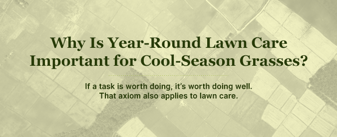 why year-round lawn care and maintenance is important for cool season grasses in the northeast, pa, nj, virginia, maryland and delaware